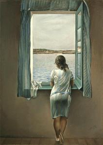 Muchacha en la ventana de Salvador Dalí