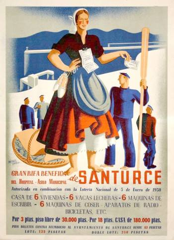 Cartel rifa enero 1950 por Nicolás Martínez Ortiz que ya se utilizó en la de 1948